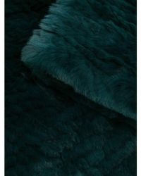 Yves Salomon Rex Rabbit Fur Round Snood - Green