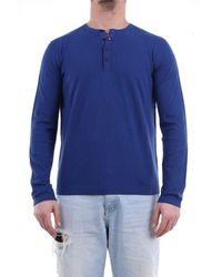 Heritage T-shirt With Long Sleeves In Navy Blue