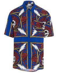 Chinatown Market Colour Viscose Shirt - Blue
