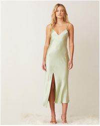 Bec & Bridge Crest Mint Midi Slip Dress - Green
