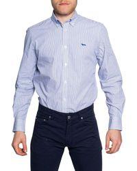 Harmont & Blaine Men's Crf012011467blue Blue Cotton Shirt