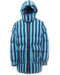 Sunnei Paddeda And Quilted Nylon Jacket - Blue