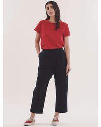YMC Market Crop Trouser - Blue