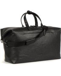 Calvin Klein Essential Leather Weekend Holdall Black