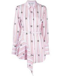 Off-White c/o Virgil Abloh - Asymmetric Arrow Shirt Dress - Lyst