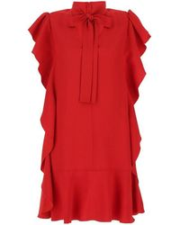 RED Valentino - Women's Vr3vaw950f1l58 Red Acetate Dress - Lyst