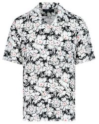 Noon Goons - Men's Ngsp21019floral Black Cotton Shirt - Lyst