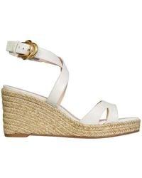 Stuart Weitzman Zuzu Sandals With Wedge - White