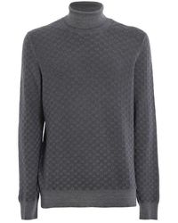 Paolo Fiorillo Capri Textured Wool Turtleneck - Grey