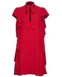 RED Valentino Midi Dress With Butterfly Sleeves - Red