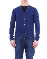 Zanone Knitwear Cardigan Men Cobalt Blue