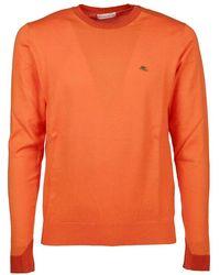 Etro - Men's 1m50091800750 Orange Cotton Sweater - Lyst