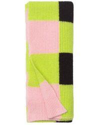 Stine Goya Orphea Scarf In Checks - Pink