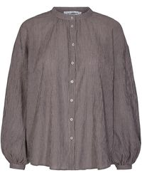 co'couture Cocouture Celina Navy Striped Shirt - Blue