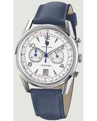 Lip Himalaya 40mm Chronograph Watch Acier - Blue
