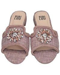 Bibi Lou Pink Rose Slides Sandals