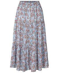 Lolly's Laundry Morning Skirt Flower Print Blue