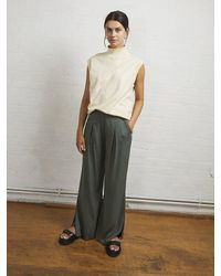 ALIGNE Edna Wide Leg Trousers , - Green