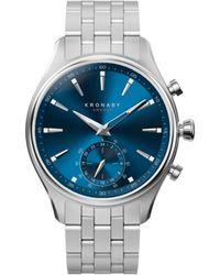 Kronaby Sekel 41mm Hybrid Smartwatch - Blue, Steel - Metallic