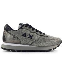 Sun68 Ally Solid Glitter Sneaker - Metallic