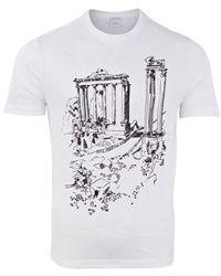 Brioni Inkjet Rome T-shirt () - White