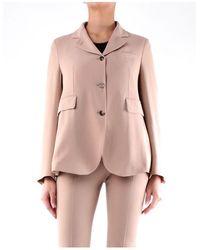 Alberto Biani Camel-colored Blazer - Pink