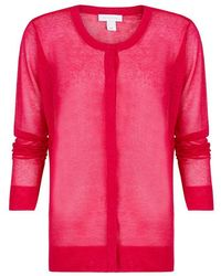 INTROPIA Buttoned Knit Cardigan - Raspberry - Pink