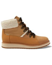 TOMS Womens Mesa Boots Tan Suede - Brown