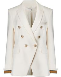 Veronica Beard Timber Dickie Jacket In Antique White