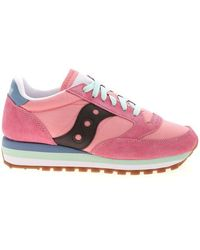 Saucony Jazz Triple Trainers In Pink - Blue