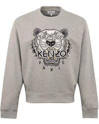 KENZO Varsity Tiger Crewneck Sweat Gray