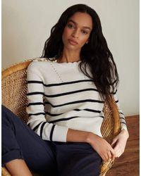Veronica Beard Matin Striped Sweater - White