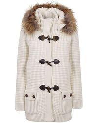 Bark Wool Coat - White