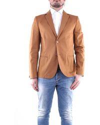 Grey Daniele Alessandrini Grey Daniele Alessandrini Camel-colored Jacket - Blue