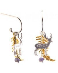 Amanda Coleman - Fern And Stag Earrings On A Half Loop - Lyst