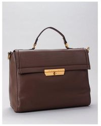 Replay Satchel Bag Colour: Brown Grey