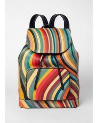 Paul Smith Swirl Fold Over Backpack - Multicolour