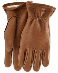 Red Wing 95230 Lined Buckskin Leather Gloves - Nutmeg - Brown