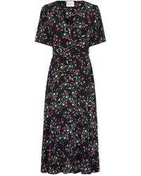 Hayley Menzies Midi Belted Silk Dress - Eve - Black
