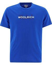Woolrich Men's Wote0048mrut14863062 Blue Other Materials T-shirt