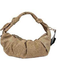 Borbonese - Women's 933373608x11 Beige Polyester Shoulder Bag - Lyst