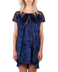 Reset Priority Cover Up Dress - Blu Velvet - Blue