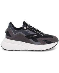 Cesare Paciotti Men's 4uspu1ng Gray Suede Sneakers