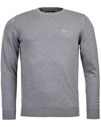 Barbour Pima Cotton Crew Neck Sweater - Gray