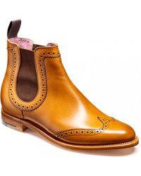 Barker Sabrina Ladies Wingtip Boots - Brown