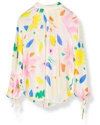 Pyrus Darcie Blouse In Portobello Floral Light - Multicolour