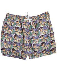 Far Afield Printed Swim Shorts Fruity - Blue
