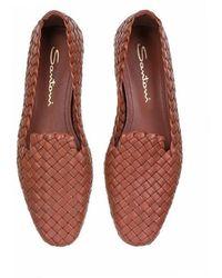 Santoni - Sandals Leather Brown - Lyst
