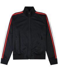 DSquared² Arm Stripe Zip Top Colour: - Black