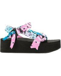 ARIZONA LOVE Trekky Platform Sandals - & Pink - Blue